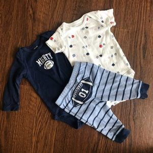 Carter's bodysuit and pant 3pc set